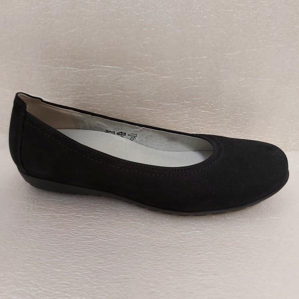 Waldläufer Damen Schuhe Ballerina Leder 329051 schwarz