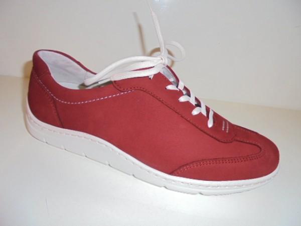 399007 Waldläufer Damenschuhe Schnürschuhe rot Leder