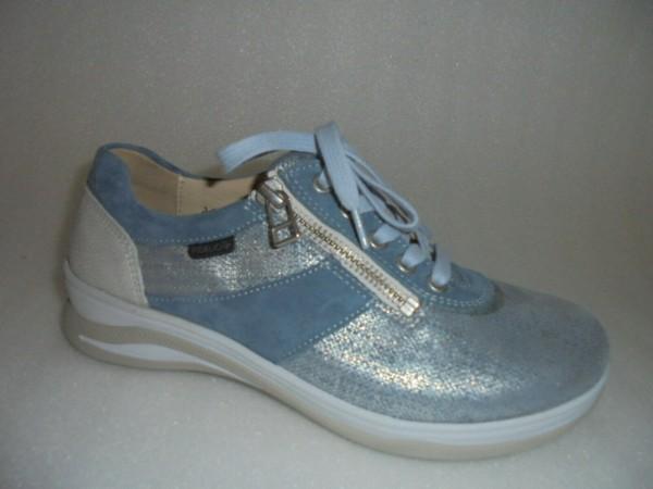 Fidelio Schnürschuhe Leder blau Halluxstretch Damen 386001