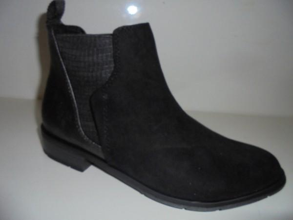 25321 Marco Tozzi Damenschuhe Stiefelette Chelsea-Boots schwarz