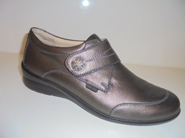 Fidelio Damenschuhe Klettschuhe Leder bronze Halluxstretch 356017