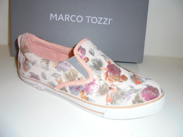 24611 Marco Tozzi Damenschuhe Slipper rose flower