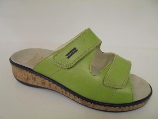 Fidelio Damenschuhe Pantolette Leder grün für Einlagen 245002