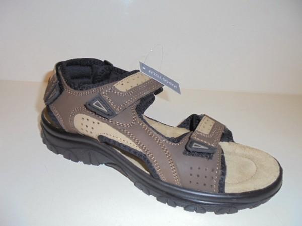 18400 Marco Tozzi Herrenschuhe Sandale Leder Lederfußbett mocca
