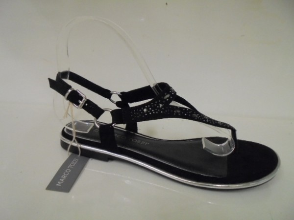 Marco Tozzi Damen Sandale Zehentrenner Dianette 28108 schwarz