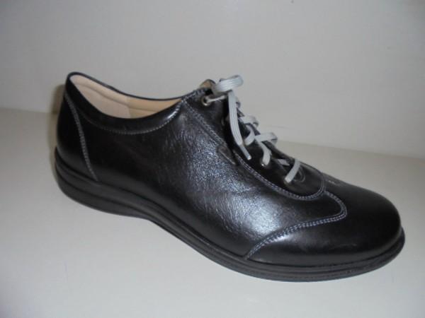 Fidelio Damenschuhe Schnürschuhe Leder Halluxstretch schwarz 286007