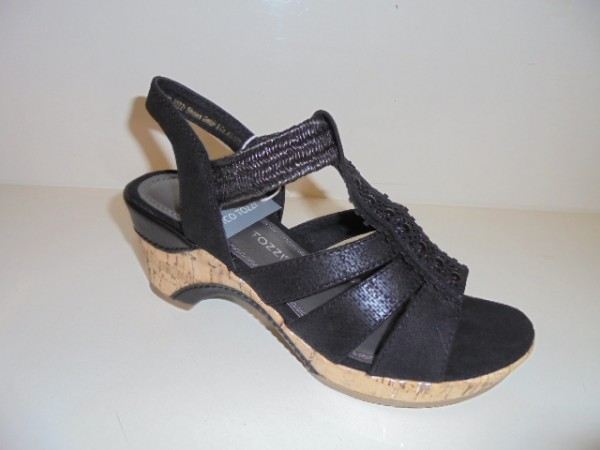 28305 Marco Tozzi Damenschuhe Sandalette Sandale schwarz