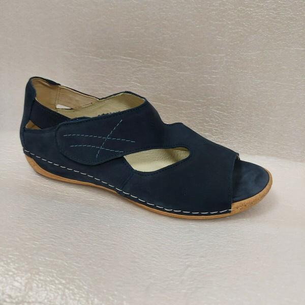 Waldläufer Damenschuhe Sandale Leder für Einlagen 342004 blau