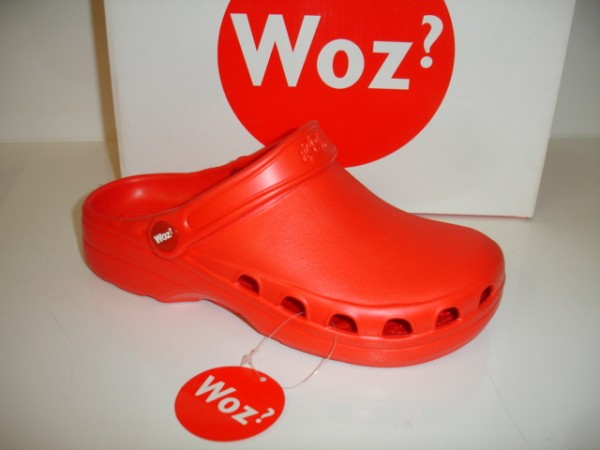 WOZ? Damenschuhe Clogs Badeschuhe Gartenclogs Saunaclogs rot