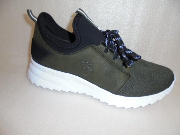 Rieker Damen Schuhe Sneaker Sportschuhe Walkingschuhe N6079 grün