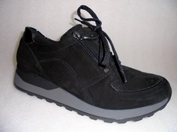 364027 Waldläufer Damenschuhe Schnürschuhe Leder schwarz
