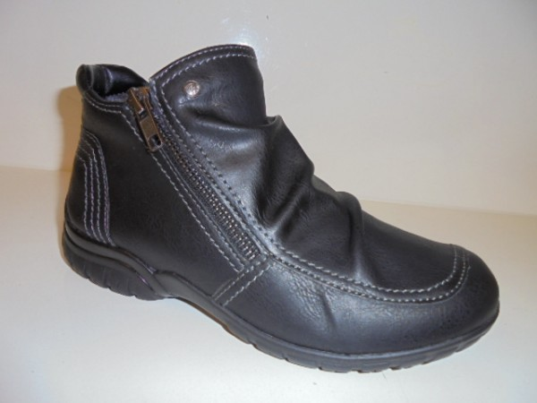 30420 Reflexan Damenschuhe Stiefeletten Reißverschluß Kunstleder schwarz