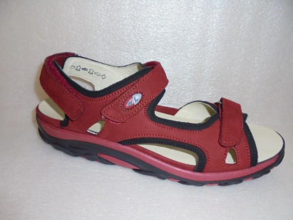 Waldläufer Damen Schuhe Sandale Leder rot Dynamic 448002