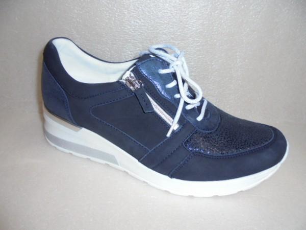 Waldläufer Damen Schuhe Schnürschuhe Ortho Tritt 939H01 blau