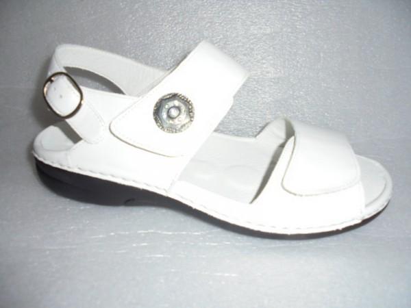 Waldläufer Damen Sandale Leder 204001 weiss