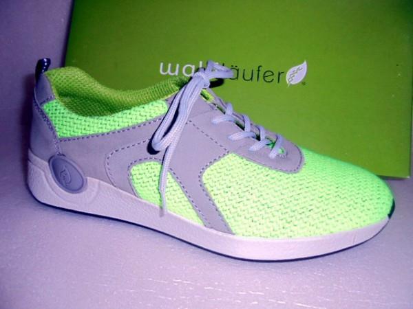 918001 Waldläufer Damen Sneaker Laufschuhe Sportschuhe grün-grau