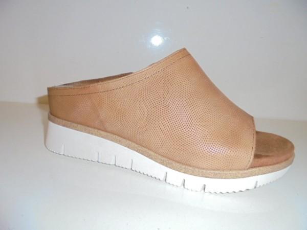 27217 Marco Tozzi Damenschuhe Sandale Leder Pantolette braun nut