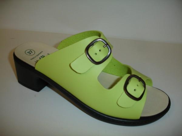 1446 Algemare Damenschuhe Pantoletten apfelgrün für lose Einlagen
