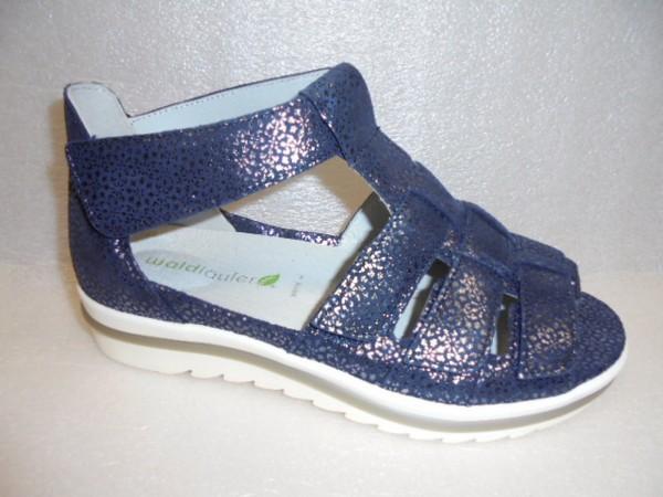 Waldläufer Damenschuhe Sandale Leder für Einlagen 351802 blau