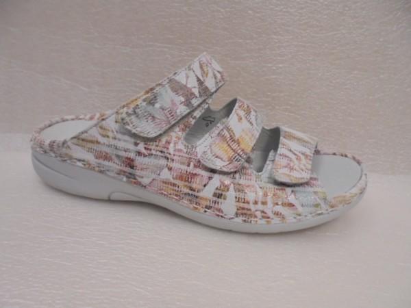 Waldläufer Damen Schuhe Pantolette Leder 204501 cement