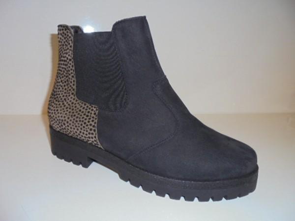 338801 Waldläufer Damenstiefelette Boots Echtleder schwarz