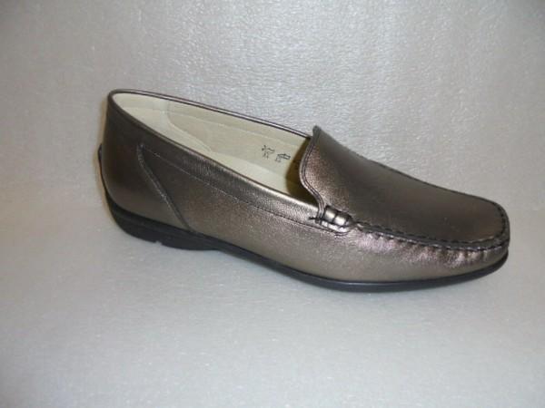 431000 Waldläufer Damen Schuhe Slipper Mokassin Leder bronze