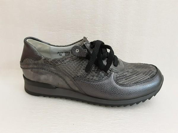Waldläufer Damen Schuhe Schnürschuhe Leder 370013 grau