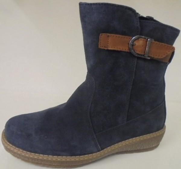 533913 Waldläufer Damenschuhe Stiefelette Boots Lammfell Leder