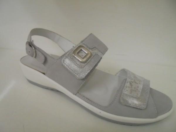 225006 Waldläufer Damenschuhe Sandale Leder cement-silber
