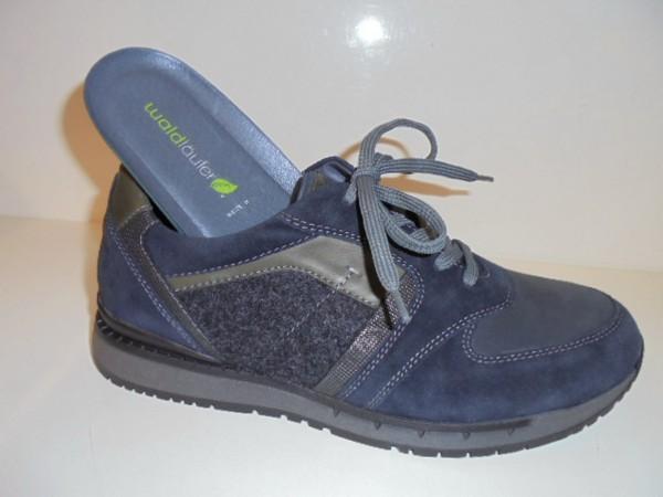 972005 Waldläufer Herrenschuhe Schnürschuhe Leder blau für Einlagen