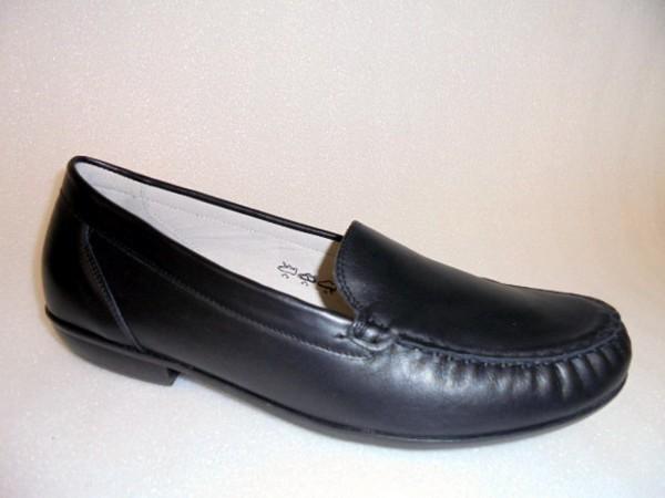 437502 Waldläufer Damenschuhe Slipper Mokassin Leder schwarz