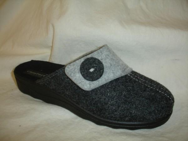 33103 COMFORT Damenschuhe Hausschuhe Pantoffel Schurwolle grau