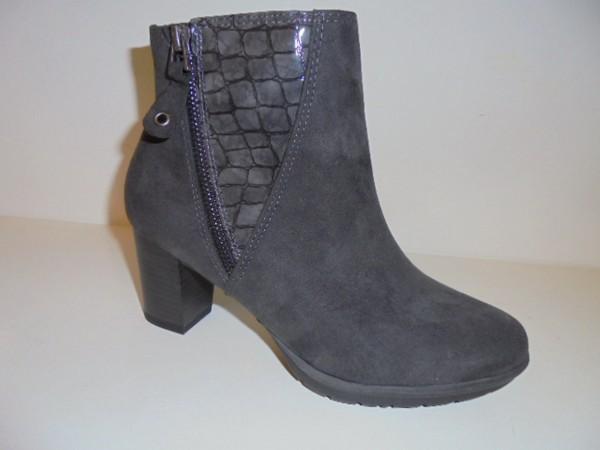 25318 Marco Tozzi Damenschuhe Stiefelette Boots grau kombi