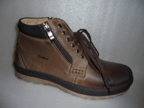 ABIS Herren Stiefelette Boots Echtleder 619039 braun