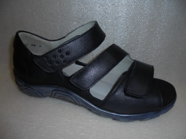 Waldläufer Damenschuhe Sandale Leder 334803 schwarz