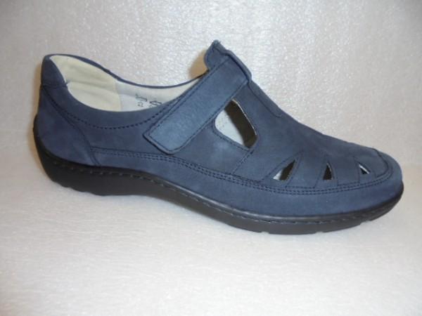 Waldläufer Damen Schuhe Klettverschluß Echtleder 496510 blau
