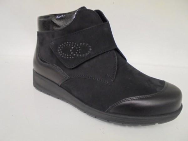 Waldläufer Damenstiefelette Boots Leder schwarz 812815