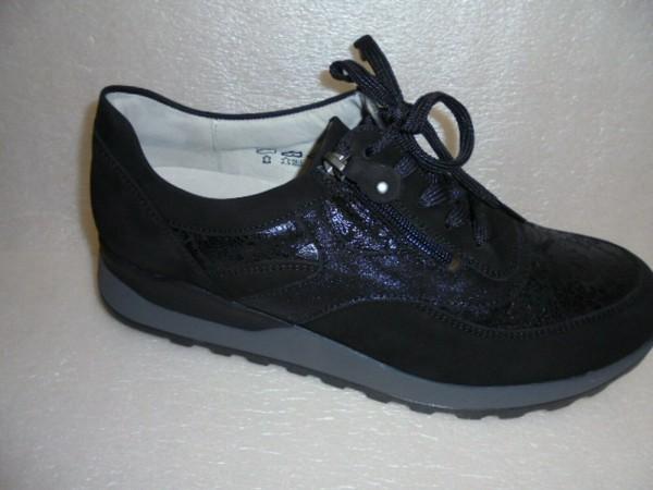 Waldläufer Damen Schnürschuhe Weite H Leder 364027 schwarz