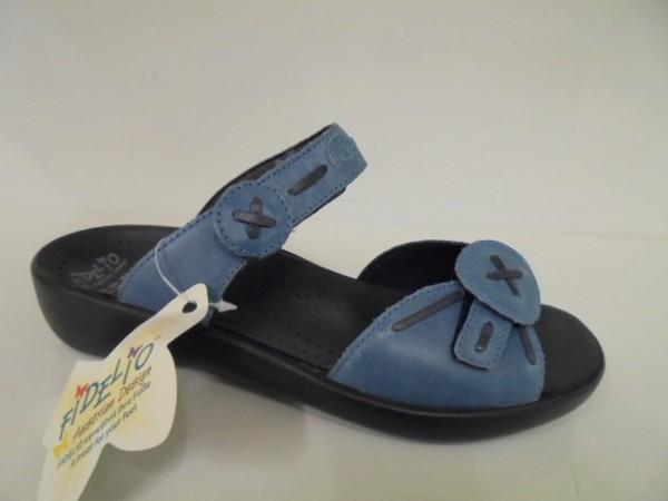 Fidelio Damenschuhe Pantolette Leder blau für Einlagen 404003