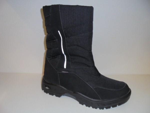 LICO Herren Boots Schneestiefel schwarz Warmfutter Gr.45