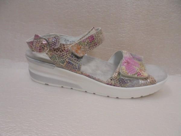 Waldläufer Damen Schuhe Sandale Leder 702005 rosa multi