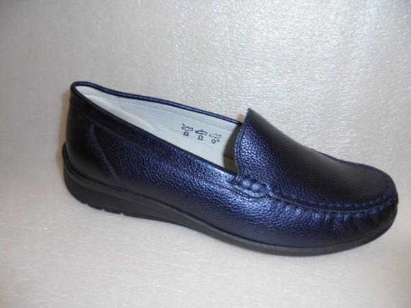 331502 Waldläufer Damen Schuhe Mokassin Echtleder blau