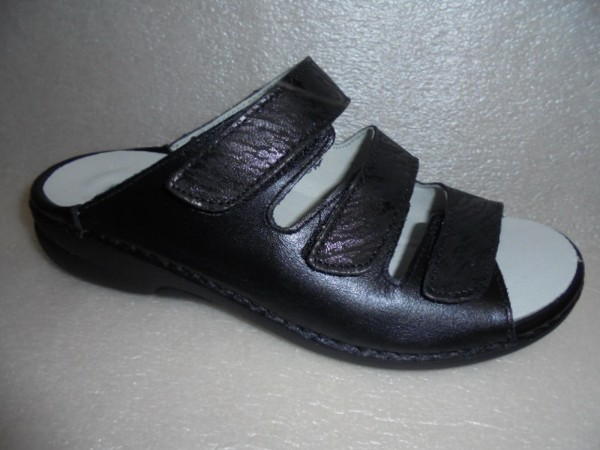 Waldläufer Damen Pantolette Leder 204501 schwarz