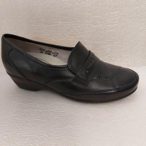 Waldläufer Damen Schuhe Slipper Mokassin Leder 8413710 schwarz