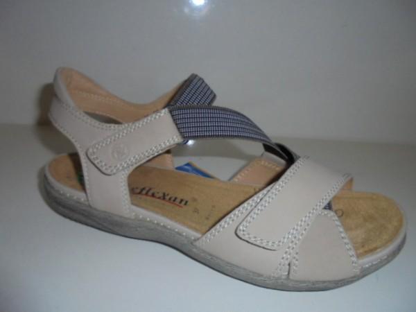40110 Reflexan Damenschuhe Sandale stone Leder