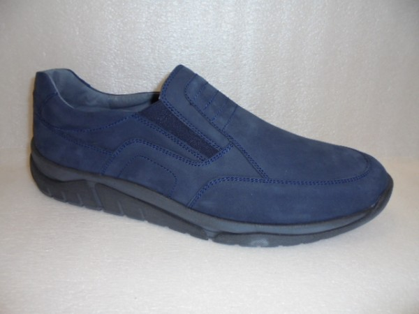 Waldläufer Herren Schuhe Slipper Leder 924501 blau