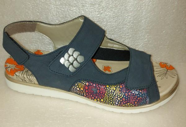 RIEKER Damen Schuhe Sandale blau