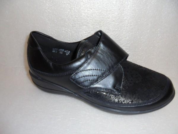 K01304 Waldläufer Damen Schuhe Klettschuhe Leder schwarz