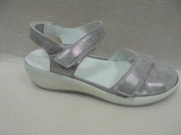 Waldläufer Damen Sandale Leder grau 973002 für Einlagen