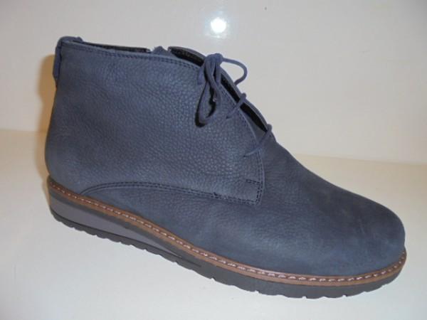 379808 Waldläufer Damenstiefelette Boots Leder für Einlagen blau